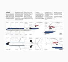 Nasa Graphics Standards Manual 1976 0050 Aircraft Paint and Marking Schemes Kids Tee