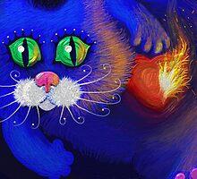 Blue Cat Valentine's Day by Iuliia Dumnova