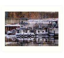 Winter Port Art Print