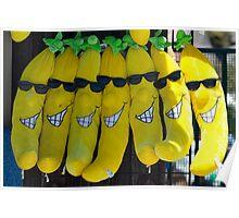 Smiling Bananas (Santa Cruz, California) Poster