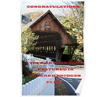 WOODSTOCK COVERED BRIDGE Poster
