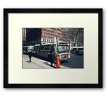 Bus NYC Framed Print