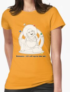 The Juggling Buddha Womens Fitted T-Shirt