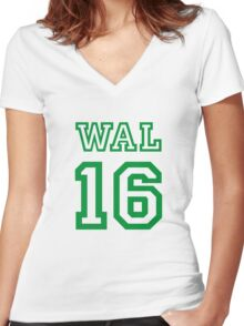 WALES 16 Women's Fitted V-Neck T-Shirt
