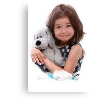 Child with doll Canvas Print