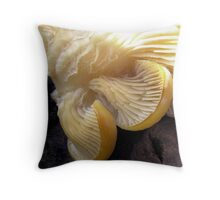 Gold Touched Oysters Throw Pillow