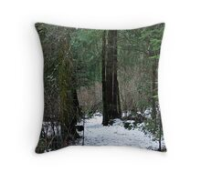Woodland Dawn Throw Pillow