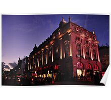 Picadilly Circus by Night Poster