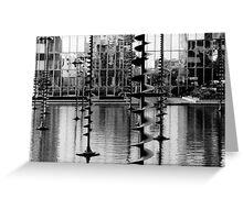 Water Sculpture, La Défense, Paris Greeting Card