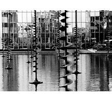 Water Sculpture, La Défense, Paris Photographic Print
