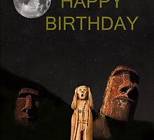 Easter Island The Scream World Tour Happy Birthday by Eric Kempson