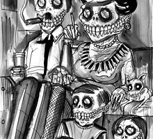 Death Watch • Macabre Art Drawing  by Spencer John Derry