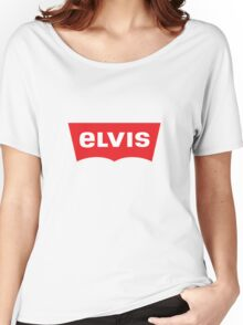 ELVIS - Levis Style Logo Women's Relaxed Fit T-Shirt
