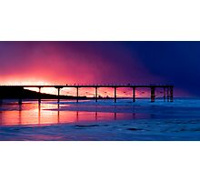 Saltburn Pier Sunset Photographic Print