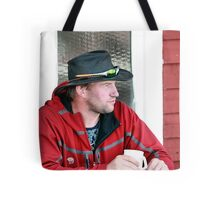 Contemplation In Red Tote Bag