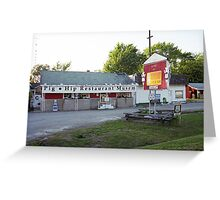 Route 66 - Pig-Hip Restaurant Greeting Card