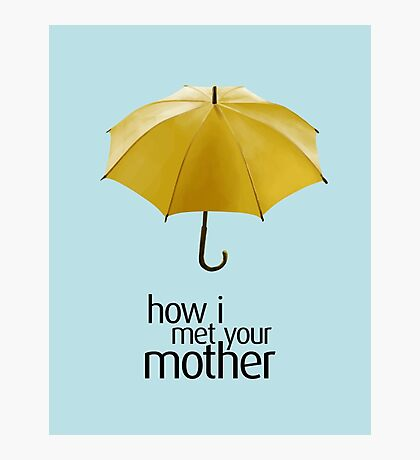 Yellow Umbrella. How I Met Your Mother. Photographic Print