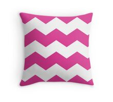 Magenta / Hot Pink Chevron Print Throw Pillow