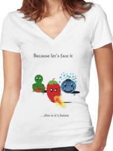 Let's face it...  Women's Fitted V-Neck T-Shirt