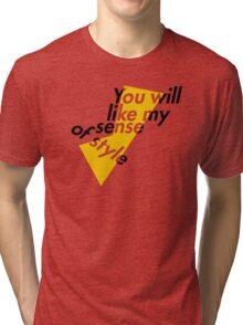 German Bold Italic Tri-blend T-Shirt