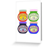 Marmite pop art Greeting Card