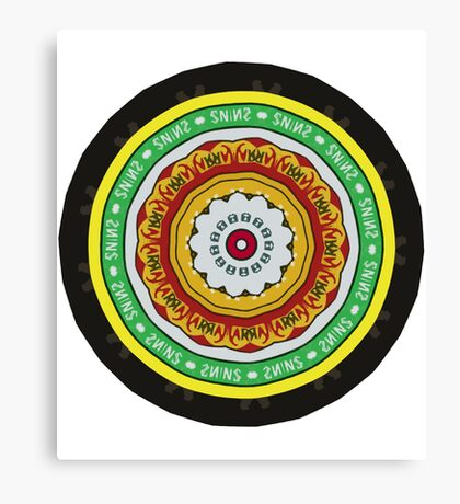 Marmite Circle Canvas Print