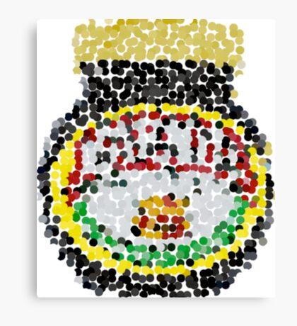 Marmite on dots Canvas Print