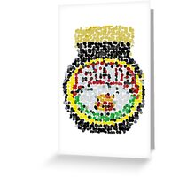 Marmite on dots Greeting Card