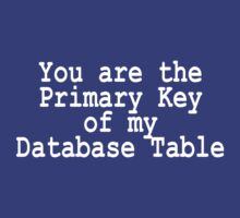 You are the PK of my DB table by amang