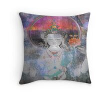 Blue ~Love ~ White Tara   Throw Pillow