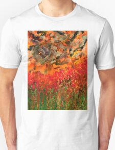 Misty Poppy Field T-Shirt