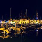 Binic Marina at Night  by James  Key