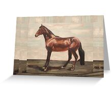 Happy Camper (oil painting horse portrait) Greeting Card