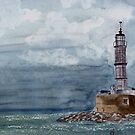 Light House on Kreta by Marie Luise  Strohmenger