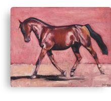 Walking with Purpose (oil painting horse portrait) Canvas Print