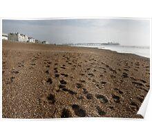 Shingle Footprints - Brighton Poster