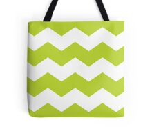 Lime Green Chevron Print Tote Bag