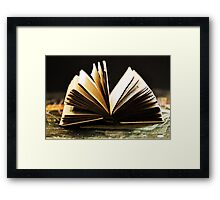 Open Book -Pages- Framed Print