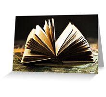 Open Book -Pages- Greeting Card