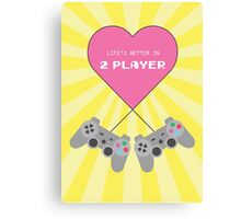 Retro Style 2-Player Playstation Print Canvas Print