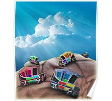 Model T's on Towels  Poster