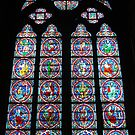 Notre Dame de Paris Stained Glass Window by Pierre Frigon