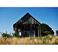 Old Barn/Shack with Blue Skies Photographic Print