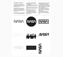 Nasa Graphics Standards Manual 1976 0002 The Logotype Incorrect Uses One Piece - Short Sleeve