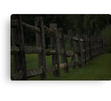 Country Wooden Fence Line Canvas Print
