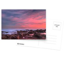 Magenta Skies Over the Pacific (Palos Verdes, California) Postcards