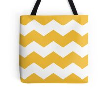 Mustard Yellow Chevron Print Tote Bag