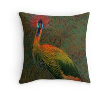 crowned crane Throw Pillow