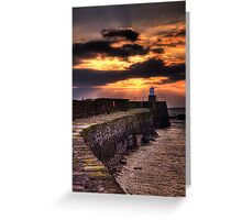Pittenweem Pier at sunset Greeting Card