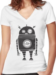 Big Robot 2.0 Women's Fitted V-Neck T-Shirt
